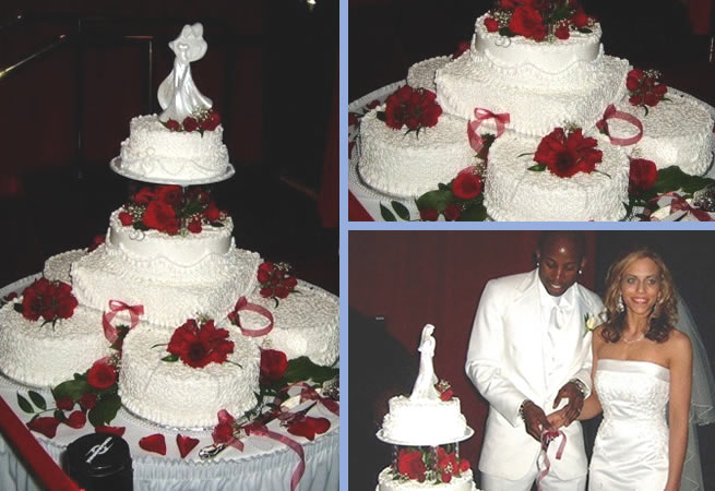 Cake Gallery Red White Romantic Moments Wedding Cakes Custom